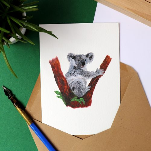 Kaart met illustratie van een koala gemaakt door Friedolien