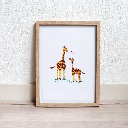Poster giraffes gemaakt door Friedolien